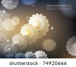 abstract flowery background...   Shutterstock .eps vector #74920666