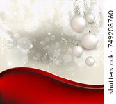 christmas balls with abstract... | Shutterstock .eps vector #749208760