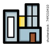 a building flat vector icon... | Shutterstock .eps vector #749210410