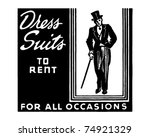 Dress Suits To Rent   Retro Ad...
