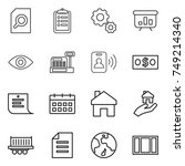 thin line icon set   search... | Shutterstock .eps vector #749214340
