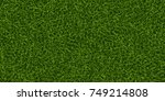 green grass background. lawn... | Shutterstock .eps vector #749214808