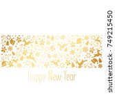 happy new year and merry... | Shutterstock .eps vector #749215450