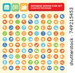 database icon set vector | Shutterstock .eps vector #749215453