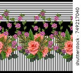 seamless pattern with beautiful ... | Shutterstock .eps vector #749217040