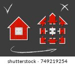 puzzle house presentation. home ... | Shutterstock .eps vector #749219254