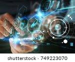 social media concept. | Shutterstock . vector #749223070