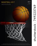 basketball poster advertising... | Shutterstock .eps vector #749223769