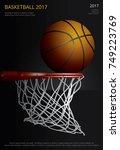basketball poster advertising... | Shutterstock .eps vector #749223769