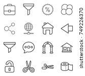 thin line icon set   portfolio