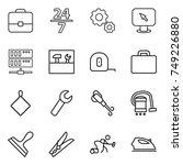 thin line icon set   portfolio  ... | Shutterstock .eps vector #749226880
