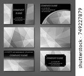 white  black and gray vector... | Shutterstock .eps vector #749227879