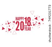 happy new year 2018 theme.  | Shutterstock .eps vector #749231773