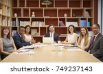 medium group of people at a... | Shutterstock . vector #749237143