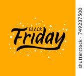 black friday funny illustration.... | Shutterstock .eps vector #749237500