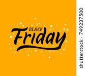 black friday funny illustration.... | Shutterstock .eps vector #749237500