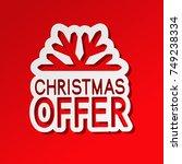 vector red paper winter sale ... | Shutterstock .eps vector #749238334