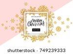 elegant merry christmas... | Shutterstock .eps vector #749239333