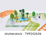 landscape architect design... | Shutterstock . vector #749242636
