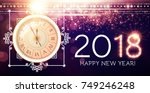 happy new 2018 year background... | Shutterstock .eps vector #749246248