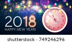 happy new 2018 year background... | Shutterstock .eps vector #749246296
