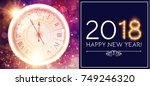 happy new 2018 year background... | Shutterstock .eps vector #749246320