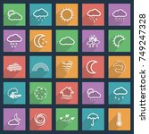 natural disaster icons black... | Shutterstock .eps vector #749247328