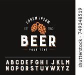 hops logo with useful alphabet. ... | Shutterstock .eps vector #749248519