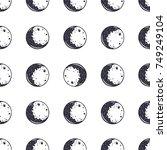moon seamless pattern....   Shutterstock .eps vector #749249104