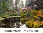 autumnal scenery of nikko... | Shutterstock . vector #749249788