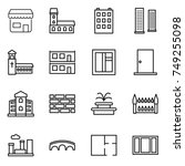 thin line icon set   shop ... | Shutterstock .eps vector #749255098