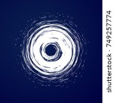huge hurricane  tornado ... | Shutterstock .eps vector #749257774