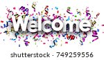 White Welcome Banner With...