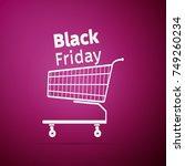black friday sale. shopping... | Shutterstock .eps vector #749260234