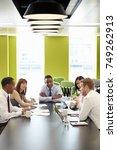 business colleagues at an...   Shutterstock . vector #749262913