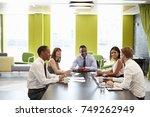 business colleagues having an... | Shutterstock . vector #749262949