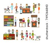 vector illustration of people... | Shutterstock .eps vector #749266840