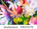 oil painting  impressionism...   Shutterstock . vector #749273770