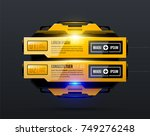 two options with glowing light... | Shutterstock .eps vector #749276248