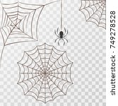 cobweb set spider web halloween ... | Shutterstock .eps vector #749278528