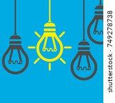bright idea and insight concept ... | Shutterstock .eps vector #749278738