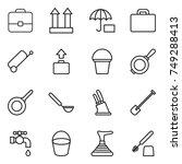 thin line icon set   portfolio  ... | Shutterstock .eps vector #749288413
