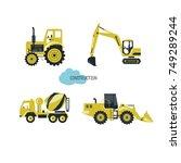 construction equipment .vector... | Shutterstock .eps vector #749289244