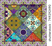 seamless pattern with... | Shutterstock .eps vector #749292490