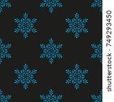 snowflake winter design season...   Shutterstock .eps vector #749293450