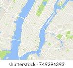 new york and manhattan urban...   Shutterstock .eps vector #749296393