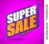 black friday sale banner....   Shutterstock .eps vector #749300134