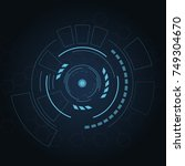 digital futuristic user... | Shutterstock .eps vector #749304670