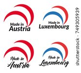 simple logos made in austria ... | Shutterstock .eps vector #749305939