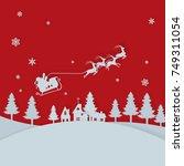 vector background of cut paper... | Shutterstock .eps vector #749311054